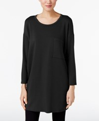 Eileen Fisher Tencel Fleece Tunic Black