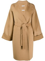 P.A.R.O.S.H. Knit Trench Coat Brown
