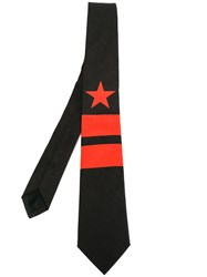 Givenchy Star And Stripes Printed Tie Black