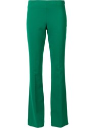 Trina Turk Tailored Flared Trousers Green