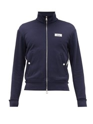 Moncler Side Stripe Technical Track Jacket Navy