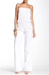 Young Fabulous And Broke Jill Linen Jumpsuit White
