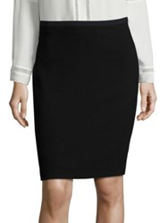 Elie Tahari Bennet Crepe Pencil Skirt Black