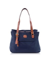 Bric's X Bag Medium Nylon Tote Bag Blue