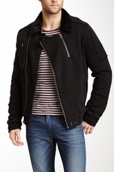 Civil Society Revolver Faux Fur Lined French Terry Jacket Black