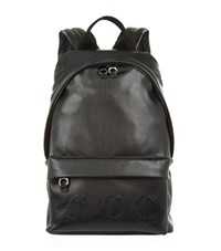 Mcq By Alexander Mcqueen Leather Logo Backpack Unisex Black