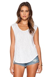 Velvet By Graham And Spencer Geralyn Sheer Texture Knit Top White