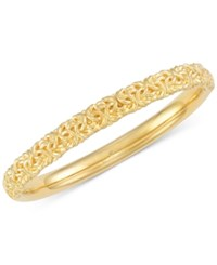 Signature Gold Byzantine Bangle Bracelet In 14K Over Resin Yellow Gold