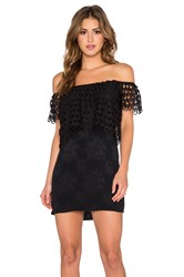 Liv Off Shoulder Dress Black