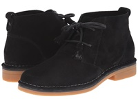 Hush Puppies Cyra Catelyn Black Suede Women's Lace Up Casual Shoes