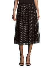 Bcbgeneration Dot Printed Skirt Black Gold
