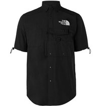The North Face Black Series Kk Logo Embroidered Shell Shirt Black