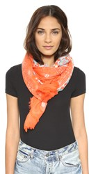 Yarnz Lace Quilt Scarf Orange