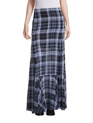Mcq By Alexander Mcqueen Flared Fluid Silk Maxi Skirt Green Red