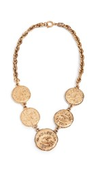 Wgaca What Goes Around Comes Around Chanel Cc Coins Necklace Yellow Gold