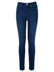 Oasis Lily High Waisted Ankle Grazer Jeans Dark Wash