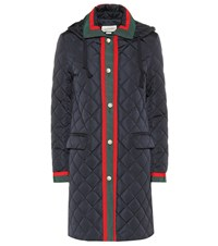 Gucci Quilted Coat Blue