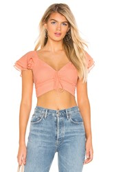 Privacy Please Talia Top Coral