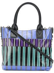 Pinko Striped Logo Tote Bag Multicolour