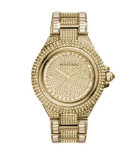 Michael Kors Camille Pave Gold Tone Watch