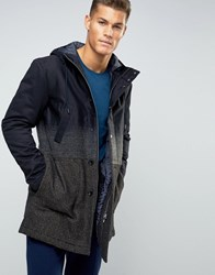 Sisley Parka With Wool Mix Detail Black 901