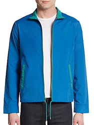 Original Penguin Two Tone Slub Cotton And Nylon Track Jacket Classic Blue