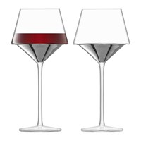 Lsa International Space Wine Goblet Set Of 2 Platinum