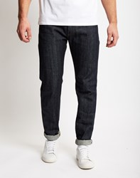 Edwin Ed 80 Red Listed Selvidge Slim Tapered Jean Navy