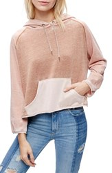 Free People Women's Tri Color Hoodie Neutral Combo