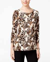 Jm Collection Printed Jacquard Top Only At Macy's Animal Blues