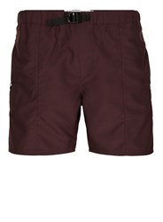 Topman Burgundy Belted Shorts