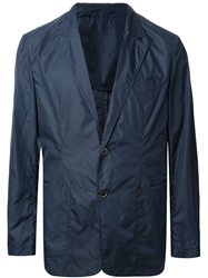 Msgm Casual Sporty Blazer Blue
