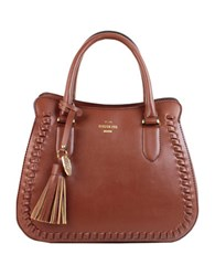 London Fog Whitby Vegan Leather Satchel Russet
