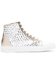 Loriblu Cut Out Panel Sneakers White