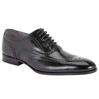 John Lewis Kin By Archie Brush Off Leather Brogue Shoes Black