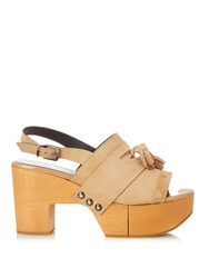 Robert Clergerie Clara Wooden Platform Sandals