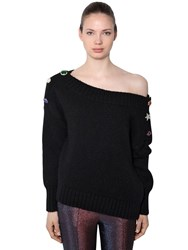 Veronica Beard Chase Alpaca Wool Blend Knit Sweater Black