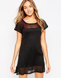 Oakley Beach Dress With Mesh Detail Black