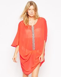 Max C Embellished Kaftan Orange