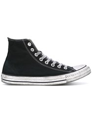 Converse Lace Up High Top Sneakers Men Calf Leather 40 Black