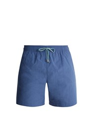 Stella Mccartney Straight Leg Swim Shorts Light Blue