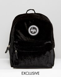 Hype Exclusive Black Velvet Backpack Black
