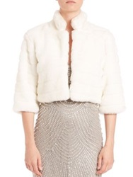 Alberto Makali Faux Fur Cropped Bolero White Black