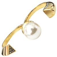 Paige Novick Lola Pearl Double Ring Yellow Gold