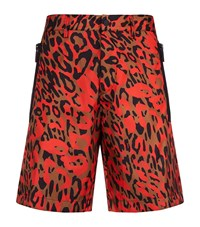 Dsquared2 Camouflage Print Nylon Shorts Male Orange