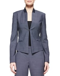 Elie Tahari Donilyn Jacket W Jersey Trim Multi Colors
