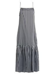 Elizabeth And James Jewel Striped Twill Cami Dress Navy Multi