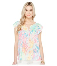 Lilly Pulitzer Shelley Top Multi Sparkling Sands Women's Clothing