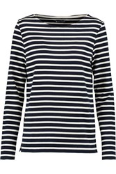 Petit Bateau Mariniere Striped Cotton Sweater Blue