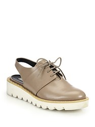 Stella Mccartney Faux Leather Slingback Oxfords Taupe